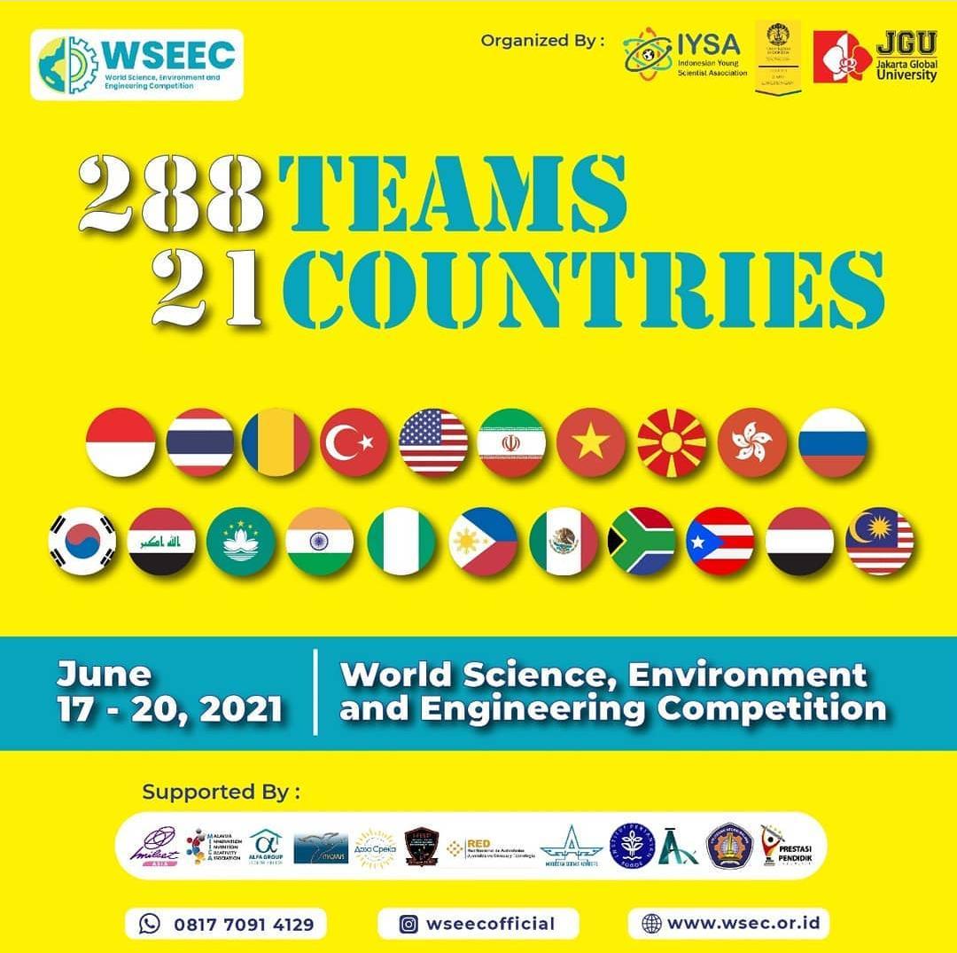 SMK Ma'arif 2 Temon Meraih Medali Perak Dalam Kompetisi Sains, Lingkungan, dan Teknik Internasional (WSEEC) 2021